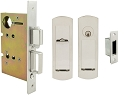 Inox PD8450 Mortise Pocket Door Entry Lockset, FH29 Linear Flush Pull