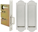 Inox PD8010 Mortise Pocket Door Passage w/ Lockcase, FH31 Regal Flush Pull