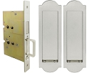 Inox PD8115 Mortise Pocket Door Passage w/ Lockcase as Dust Proof Strike, FH31 Regal Flush Pull