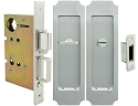 Inox PD8440 Mortise Pocket Door Privacy Lockset, FH32 Crown Flush Pull