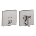 Kwikset 258SQT Modern Downtown Style Single Cylinder Deadbolt