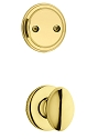 Kwikset 606AO-3 Aliso Interior Dummy Handleset INTERIOR TRIM ONLY Bright Brass Finish