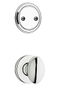 Kwikset 606AO-26 Aliso Interior Dummy Handleset INTERIOR TRIM ONLY Bright Chrome Finish