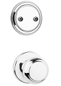 Kwikset 606CV-26 Cove Interior Dummy Handleset INTERIOR TRIM ONLY Bright Chrome Finish