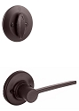 Kwikset 604LRLLH-15V1 Left Hand Ladera Interior Single Cylinder Handleset INTERIOR TRIM ONLY  Venetian Bronze