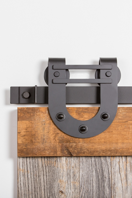 Leatherneck 403dbhh double horseshoe style barn door track for Track hanger
