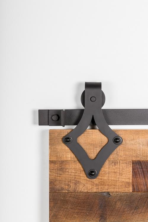 Leatherneck 411 wide teardrop style barn door track hanger for Track hanger
