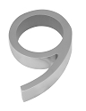 Linnea 5 Inch House Number - 9