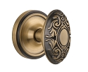 Nostalgic Warehouse Classic Rosette with Victorian Knob - Mortise Lock