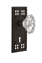Nostalgic Warehouse Craftsman Plate and Chateau Knob - Mortise Lock