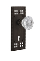 Nostalgic Warehouse Craftsman Plate and Crystal Knob - Mortise Lock