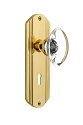 Nostalgic Warehouse Deco Plate with Oval Crystal Knob - Mortise Lock