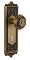Nostalgic Warehouse Egg and Dart Plate with Meadows Knob - Mortise Lock