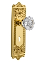 Nostalgic Warehouse Egg and Dart Plate with Crystal Knob - Mortise Lock
