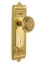 Nostalgic Warehouse Egg and Dart Plate with Eastlake Knob - Mortise Lock