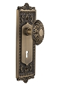 Nostalgic Warehouse Egg and Dart Plate with Victorian Knob - Mortise Lock