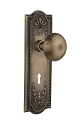 Nostalgic Warehouse Meadows Plate with New York Knob - Mortise Lock