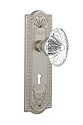 Nostalgic Warehouse Meadows Plate with Oval Fluted Crystal Knob - Mortise Lock