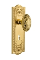 Nostalgic Warehouse Meadows Plate with Victorian Knob - Mortise Lock