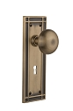 Nostalgic Warehouse Mission Plate with New York Knob - Mortise Lock