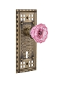 Nostalgic Warehouse Craftsman Plate with Pink Crystal Knob