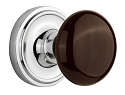 Nostalgic Warehouse Classic Rose with Brown Porcelain Knob