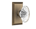 Nostalgic Warehouse Studio Plate with Oval Fluted Crystal Knob
