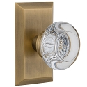Nostalgic Warehouse Studio Plate with Round Clear Crystal Knob