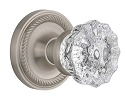 Nostalgic Warehouse Rope Rosette with Crystal Knob - Mortise Lock
