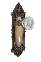 Nostalgic Warehouse Victorian Plate with Crystal Knob - Mortise Lock