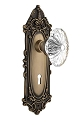 Nostalgic Warehouse Victorian Plate with Oval Fluted Crystal Knob