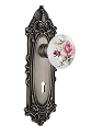 Nostalgic Warehouse Victorian Plate with Rose Porcelain Knob - Mortise Lock