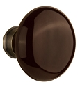 Nostalgic Warehouse Brown Porcelain Knobs ONLY with Spindle