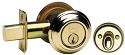 Omnia Style 0806 Single Cylinder Deadbolt with Traditional Collar