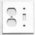 Omnia Modern Double Outlet/Single Switch Plate