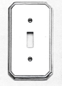 Omnia Traditional Single Outlet Plate