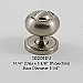 Residential Essentials 10201 Cabinet Knob in Satin Nickel