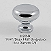 Residential Essentials 10206 Cabinet Knob in Polished Chrome