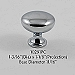 Residential Essentials 10291 Cabinet Knob in Polished Chrome