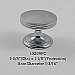 Residential Essentials 10299 Polished Chrome Cabinet Knob