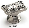 Schaub Brushed Nickel Black Octagonal Cabinet Knob 841-BNB