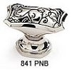 Schaub Polished Nickel Black Octagonal Cabinet Knob 841-PNB