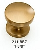 Schaub Brushed Bronze Knob 211-BBZ