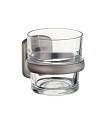 Smedbo Cabin Holder with Glass Tumbler - Brushed Nickel