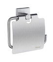 Smedbo House Collection Toilet Roll Holder with Lid - Brushed Chrome