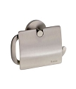 Smedbo Loft Collection Toilet Roll Holder With Lid - Brushed Nickel