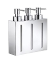 Smedbo Outline Collection Triple Soap Dispenser Wallmount - Polished Chrome