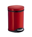 Smedbo Outline Collection Pedal Bin - Red Lacquered Stainless Steel
