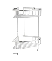 Smedbo Sideline Collection Design Corner Double Level Basket - Polished Chrome