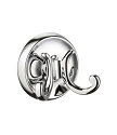 Smedbo Villa Collection Double Bath Towel Hook - Polished Chrome